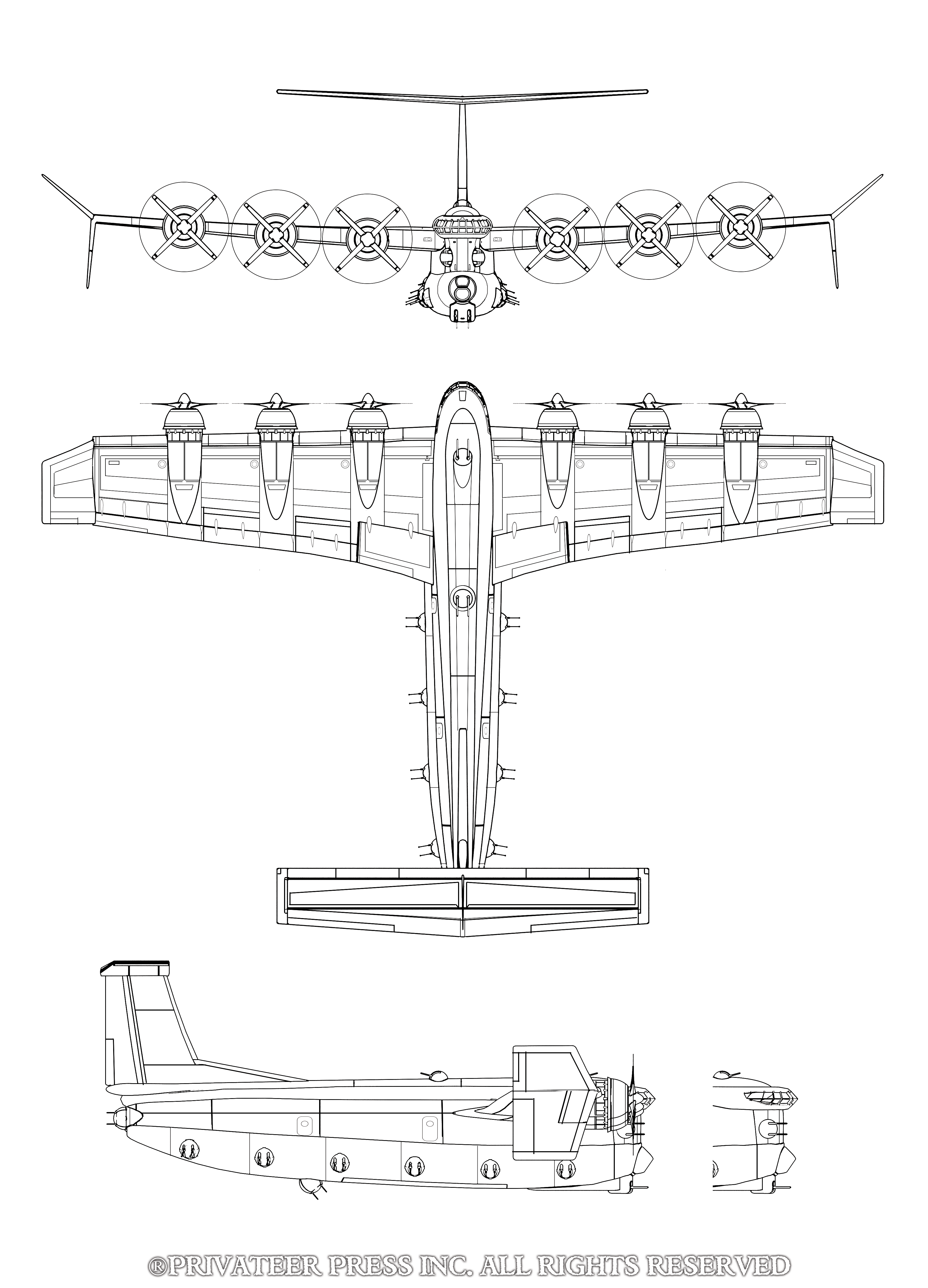 Tales of the Invisible Hand Airship Schematics with Author ... on